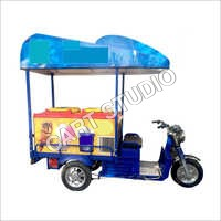 275 Litre Refrigerator Electric Ice Cream Rickshaw