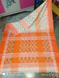 Khadi Check Saree