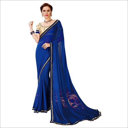Fancy Plain Saree
