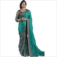 Ladies Stylish Emboireded Saree