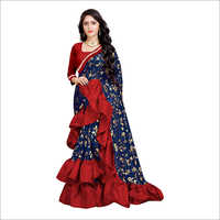 Ladies Designer Ruffle Saree