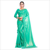 Ladies Fancy Ruffle Saree