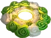 Brass 1 - Cup Tealight Holder (Green, White, Pack of 1)