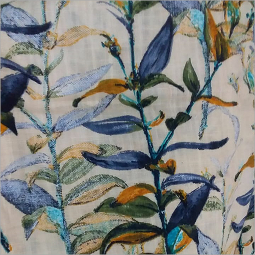Cotton Leaf Printed Fabric