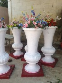 Fiber pot for decoration and passage decoration
