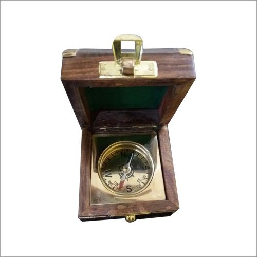 Wooden Box Compass