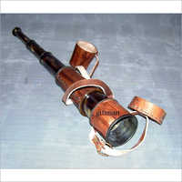 Leather Grip Brass Telescope