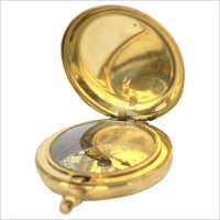 Push Button  Brass Compass