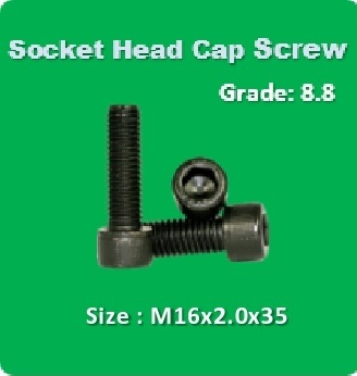 Socket Head Cap Screw M16x2.0x35