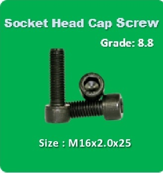 Socket Head Cap Screw M16x2.0x25