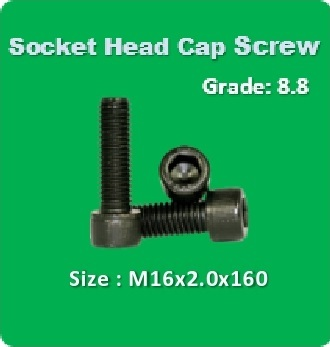 Socket Head Cap Screw M16x2.0x160