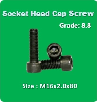 Socket Head Cap Screw M16x2.0x80