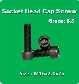Socket Head Cap Screw M16x2.0x75