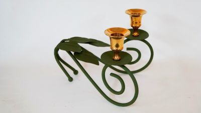 Brass Candle Holder Plant