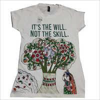 Hand Printed Mens T-Shirt