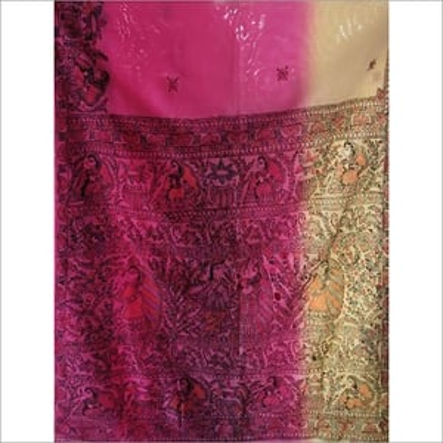 Handmade Painted Silk Saree