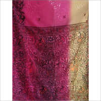 Handmade Painted Silk Saree