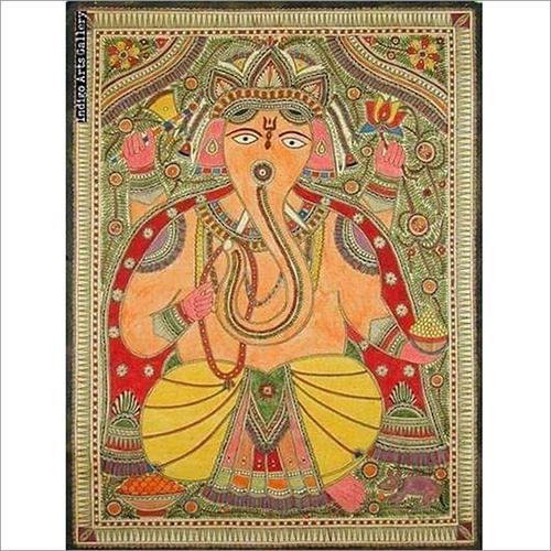 Handmade Painted Ganesh Painting