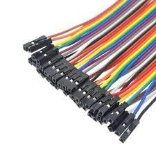 10CM Breadboard Jumper 2.54MM 1P-1P Cable 40 Pcs Male to Male and Female to Female .
