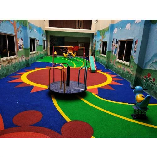 Children Play Area Rubber Flooring - EPDM