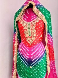 Rajsthani Bandhej Suit Material