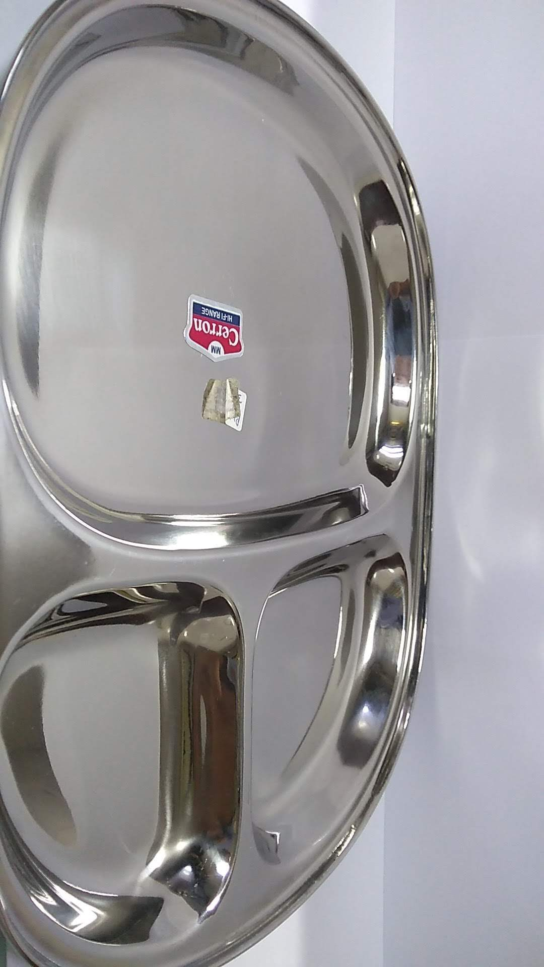 SS Three Compartment Plate