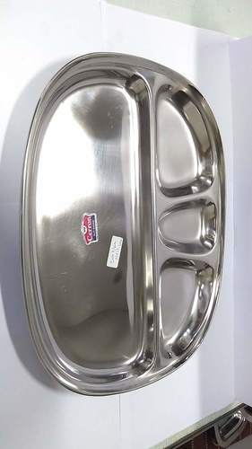 Stainless Steel Four compartment Plate