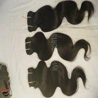 100 Human Hair Extension,Natural Raw Virgin Indian Hair Wholesale