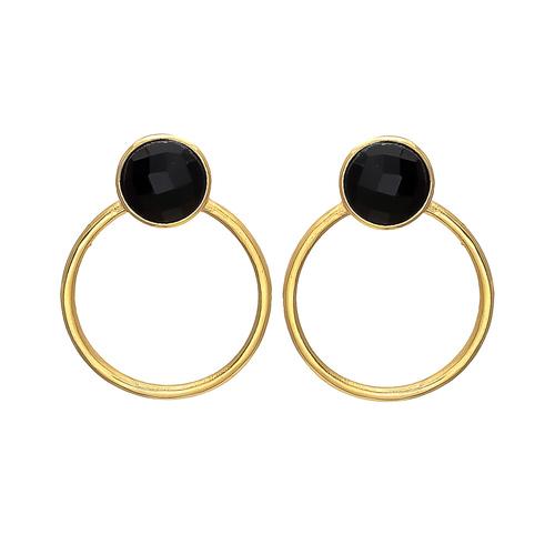 Smoky Topaz Hydro Gemstone Earrings