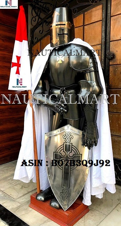 NAUTICALMART Medieval Knight Crusader Full Suit Of Armour Collectibles Armor Costume