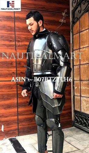 NauticalMart Armor Conquest Undead Armour Set Complete Package Black Medieval Suit of Armor