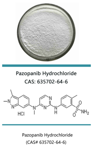 Pazopanib Hydrochloride/Pazopanib HCL/Unii-33Y9anm545 CAS 635702-64-6