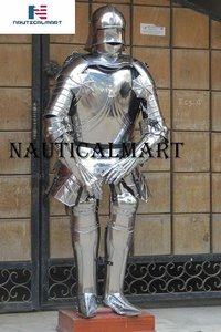 NauticalMart Medieval German Gothic Full Suit of Armor Wearable Steel Body Armor Halloween Costume