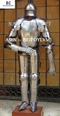 NauticalMart Gothic Suit of Armor Medieval Knight Reenactment Costume IOTC Armoury