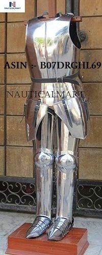 NAUTICALMART Combat Half Suit Armor Medieval Breastplate with Full Leg Armor
