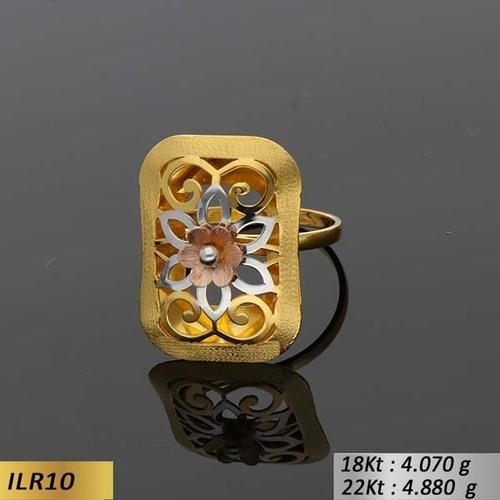 Rectangular Gold Ladies Ring