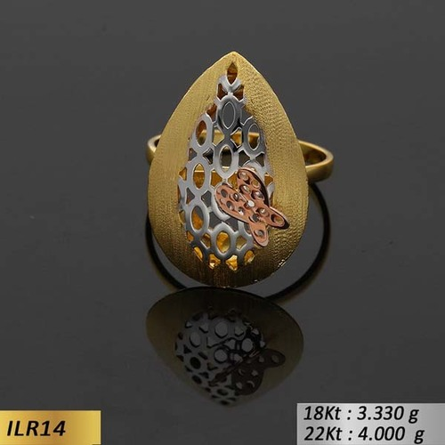 Pear Shape Gold Ladies Ring