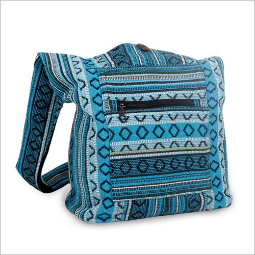 Cotton Blue Boho Bag