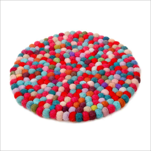 Colorful Felt Coaster