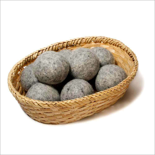 Felt Grey Wool Dryer Ball