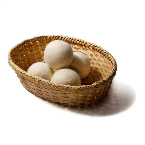 High Quality Felt White Wool Dryer Ball Handmade in Nepal