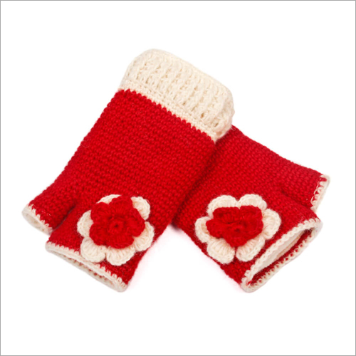 Red Rose Woolen Hand Warmer