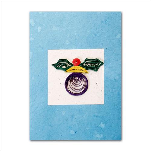 Mr Face Lokta Paper Greeting Card