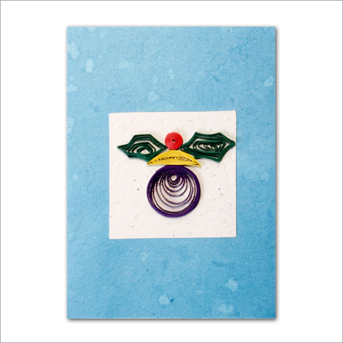 Mr Face Lokta Paper Greeting Card