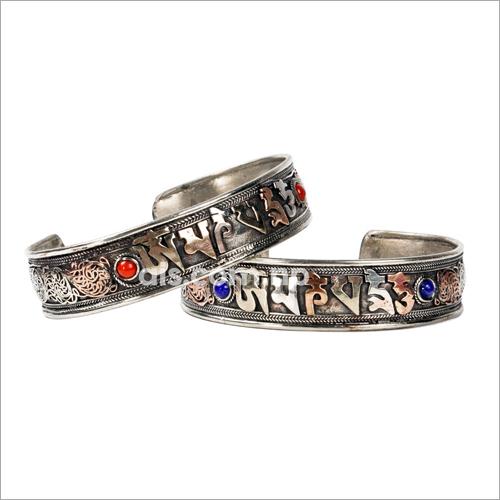 Decorative Mantra Carved Bracelet