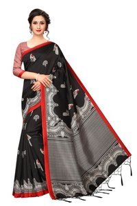 Banarasi art silk sarees with jhalar (tessals)