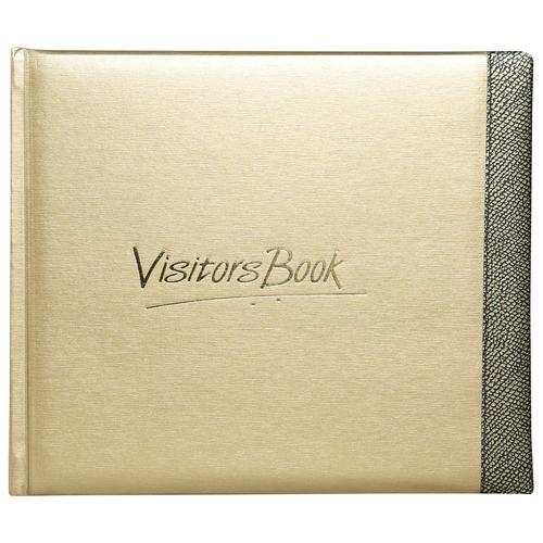 Visitors Book small- Gold