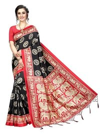 Beautiful Banarasi Art Silk Saree (Jhalar)