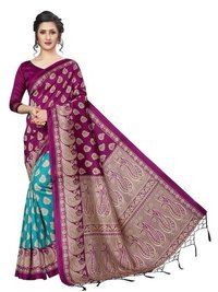 Banarasi Art Silk Saree with Jhalar