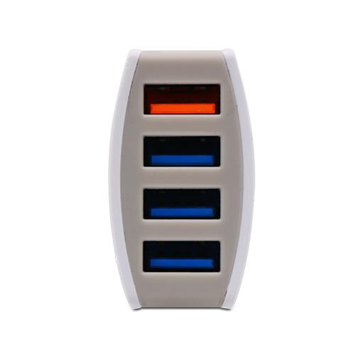 4 PORT USB CAR CHARGER (6.4A)